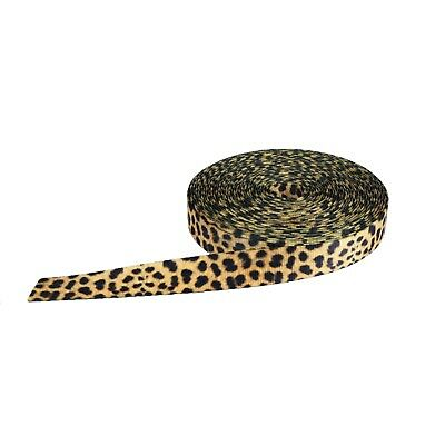 Strapworks Printed Polyester Webbing Leopard Print Pattern sold by the yard