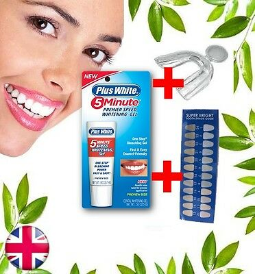 Plus White 5 Minute Tooth Teeth Whitening Gel~Preview Size ~ 0.1% Hp