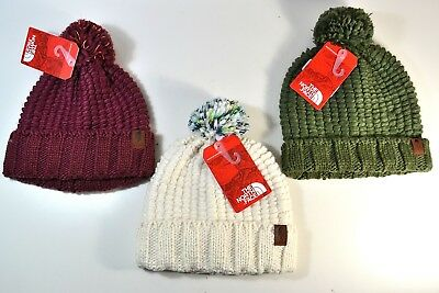 b4142d9d1 NWT THE NORTH Face Mtn Culture Cozy Chunky Pom Beanie Hat 3 Colors One Size
