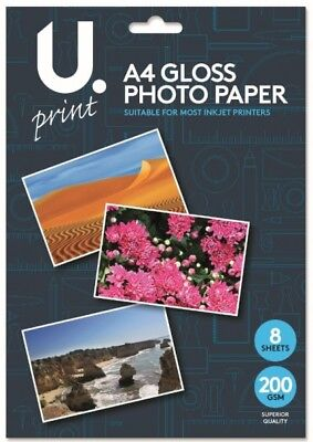 A4 High Gloss Photo Paper - Inkjet, Laser Printer & Photocopiers - 200 gsm New
