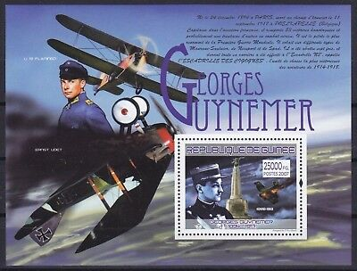 Guinea Block 1456 (5256) **, Georges Guynemer - Flugzeuge / Airplanes