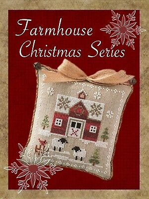 Farmhouse Christmas Series Little House Needlework Cross Stitch Pattern