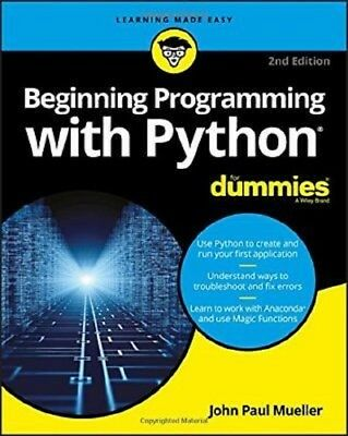 Beginning Programming with Python For Dummies, 2nd Edition 2018 PDF Read on PC/S