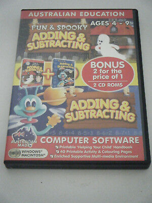 PC Game /  Learning.  2 disc set.  Adding and Subtracting.  Ages 4- 9