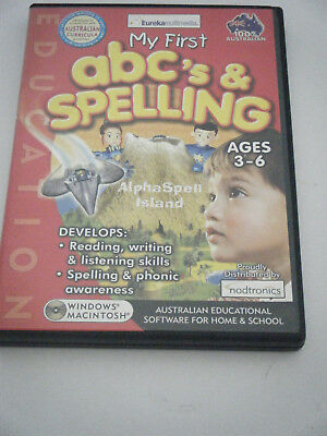 PC Game /  Learning.  My First abc's and spelling.  ages 3-6
