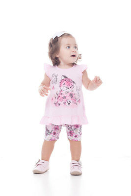 Baby Girl Outfit Sleeveless Shirt and Shorts Summer Top Pulla Bulla 3-12 Months
