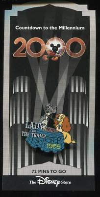 Countdown to the Millennium #73 Lady & the Tramp Disney Pin 344