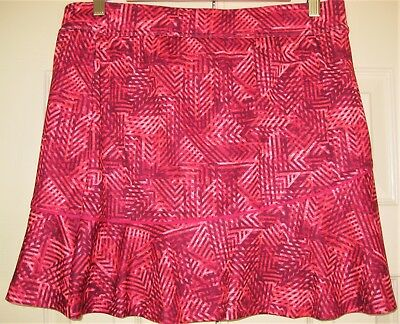 "Women's Size Medium Made For Life Shorts Skort Pinks 17"" L"