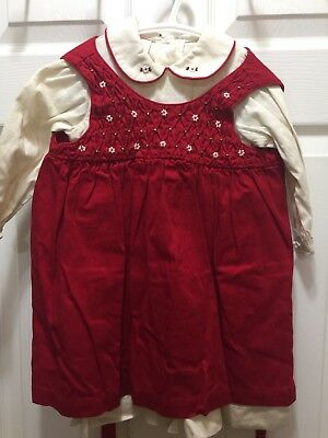 Baby Girls  Will Beth Christmas Holiday Dress ( Pre Owned)   18 Months