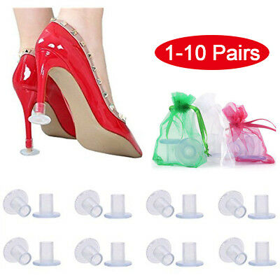 1-10Pairs High Heel Protectors Stopper Stop Sinking Stiletto High Heel Cover USA