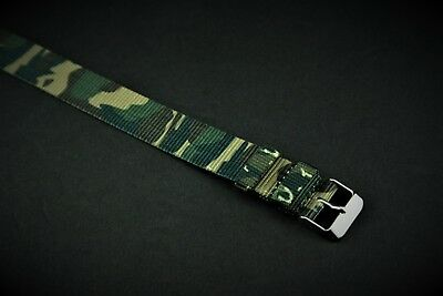 18mm Military Camouflage Slip Thru Nylon Watch strap band fits Timex Weekender