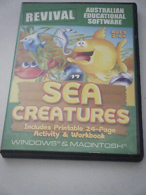 PC Game /  Learning.  Sea Creatures.  Ages 3 - 6+