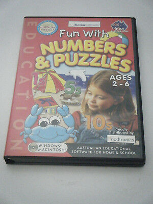 PC Game /  Learning.  Fun with Numbers & Puzzles.   Ages 2 - 6