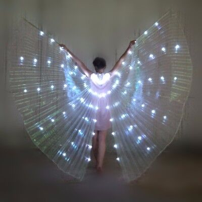 LED Light Isis Wings Belly Dance Club Cosplay Show Light Up Wings Dress Costume