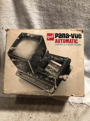 GAF Pana-Vue Automatic Lighted 2x2 Slide Viewer - New in Original Box-