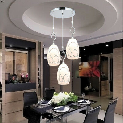 Creative LED Glass Chandelier Pendant Lamp Fixtures Dining Room Ceiling  Light