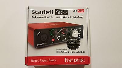 NIB Focusrite Scarlett 2nd Generation Solo USB Audio Interface