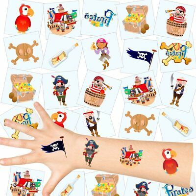 German Trendseller® - Piraten Kinder Tattoos - Set | NEU