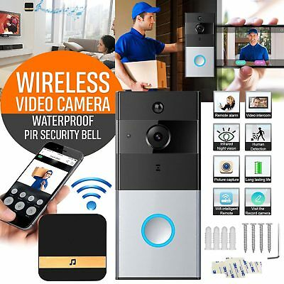 Wireless WiFi Remote Video Door Camera Phone Doorbell Intercom PIR Security Bell