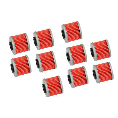 10pcs Oil Filter For Honda CRF250X 04-17 CRF250XRL 15-16 CRF450R 02-17 03 04 05