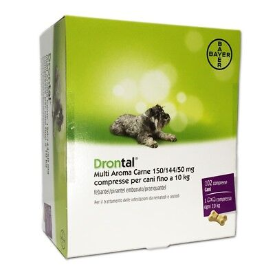 Drontal Multi Aroma Carne 150/144/50Mg Vermifuge Polyvalent Format Plaquette