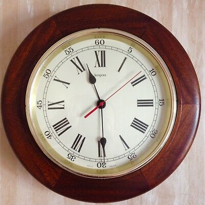 Smiths Tempora Large Transistor Mechanical Wall Clock Working 70s Vintage Retro