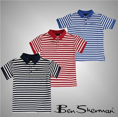 5bdf4b134a7973 Ben Sherman Kids Junior Boys 49T Polo T Shirt Short Sleeve Tee Top Classic  Fit