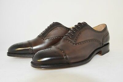 Man-Oxford Captoe-Francesina-Calf Brown-Vitello Marrone-Leather Sole