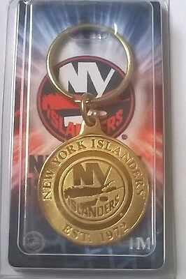 New York Islanders NHL Bronze Coin Logo Key Ring