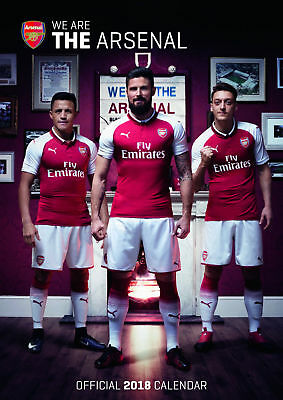 Arsenal F.C. Official 2018 A3 Poster Format Calendar **Brand New & Sealed**
