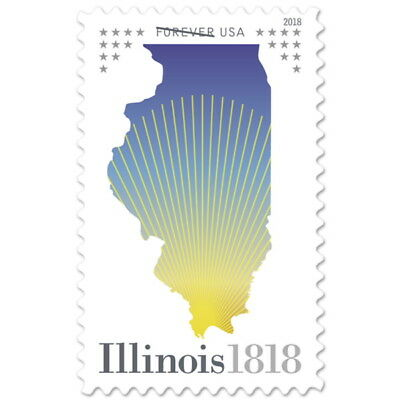 USPS New Illinois Statehood Pane of 20