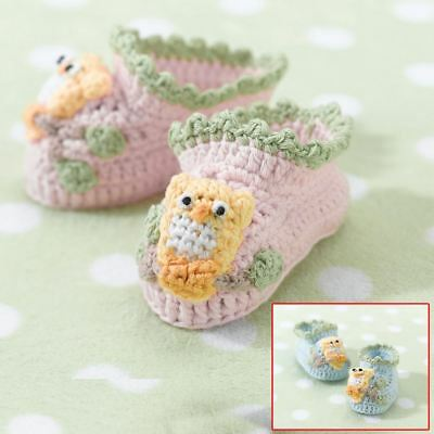 Owl Baby Toddler Booties Boots Shoes 0-6 Months