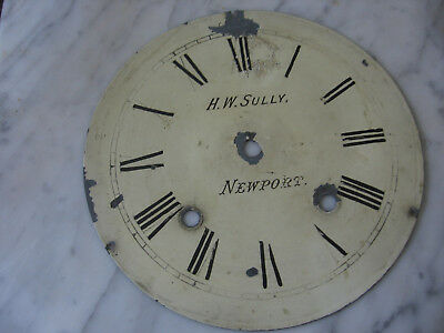 Antique Metal Clock Face H.w.sully Newport
