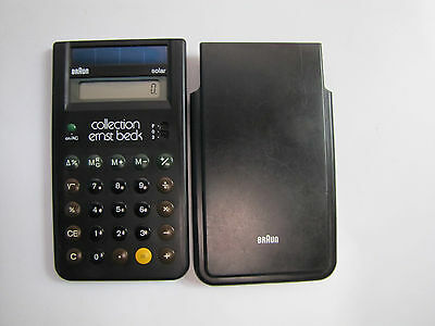 Braun Calculator Ets 77  Solar Taschenrechner Typ 4777 Collection Ernst Beck