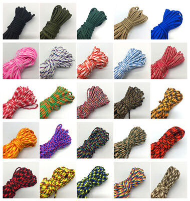 550 Parachute Cord Lanyard Rope Mil Spec Type III 7 Strand Climbing Camping