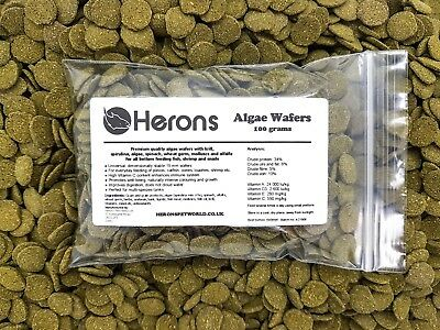 HERONS Premium Algae Wafers [100g] TROPICAL FISH Pleco Catfish Shrimp Snail
