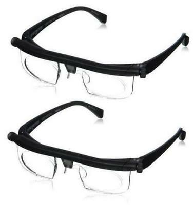 2 X Adjustable Glasses Spectacles Vision For Distance Or Reading As Seen On Tv
