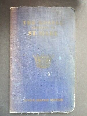 """Ww2 1939 Great Britain Issued Military """"the Gospel According To Saint Mark"""""""