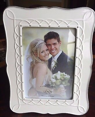 """STUNNING LENOX WED """"BLISS"""" PICTURE FRAME:NIB 5 X 7 PORCELAIN  Retail $86 826466"""