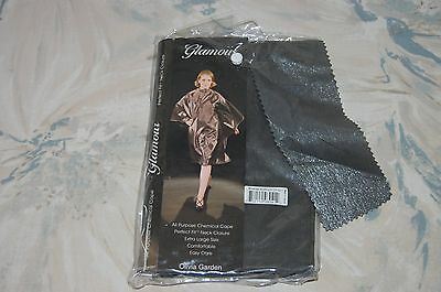 Olivia Garden GLAMOUR All Purpose CHEMICAL CAPE Brushed Aluminum (CP-GL1) NEW