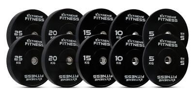 "Extreme Fitness® Olympic Bumper Weight Plates Rubber Gym Crossfit 2"" Sets"
