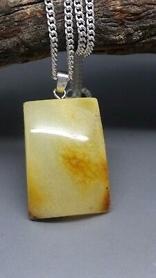 4,5 grams Genuine Natural Butterscotch Baltic Amber Pendant Necklace