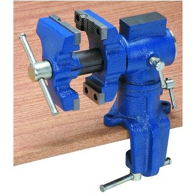 Central Forge 2-1/2 in. Table Swivel Vise strong swivel vise grips tight on