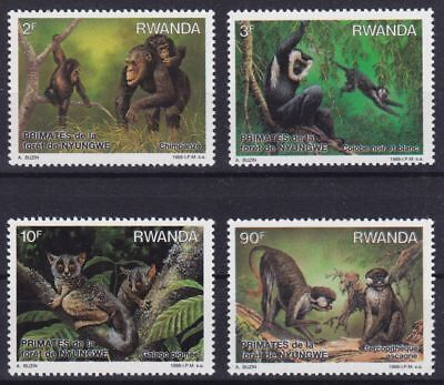 Ruanda Mi-Nr. 1389 - 1392 **, Affen / Monkeys / Singes (8 ME)