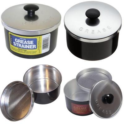 STRAINER STORAGE REUSE Container Frying Cooking Oil Non stick Bacon