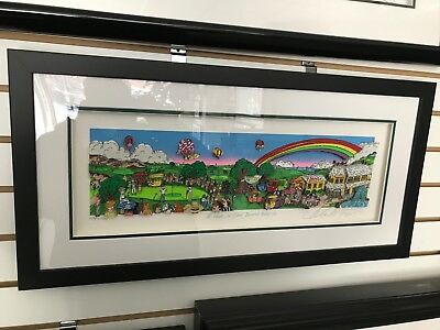 """Charles Fazzino """"A Hole In One Behind Bush 13 """" 3-D Art Signed & Number Deluxe"""