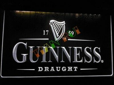 Guinness LED Neon Bar Sign Home Light Drink Pub Lager Stout Ginnis guiness