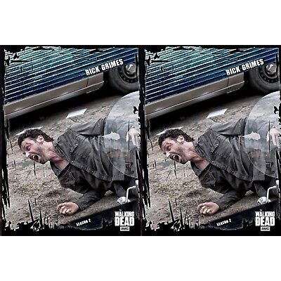 4x FALLOUT BLUE WAVE 2 RICK GRIMES Topps Walking Dead Trader Digital Card
