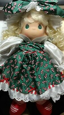 PRECIOUS MOMENTS DOLL  #5170 in original box CHRISTMAS STOCKING doll