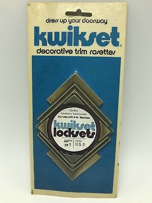 Kwikset Decorative Trim Rosette Door Handle Antique Brass Vintage 1963 MCM 285